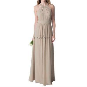 Bill Levkoff Champagne Bridesmaid Dress